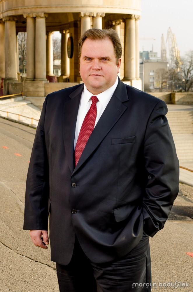 Paweł Piskorski na Wałach Chrobrego w Szczecinie, 18 lutego 2014 roku.